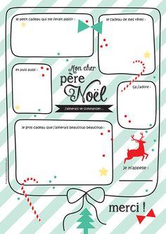 Lettre au Père Noël Pour mes jolis mômes 2014 French Christmas, Christmas Mood, Kids Christmas, Christmas Crafts, Christmas Activities, Christmas Printables, Diy Xmas, Teaching Themes, Diy For Kids