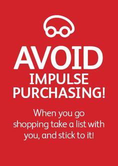 Avoid impulse purchasing