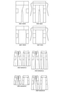 The Nehalem Pant and Skirt sewing pattern by Sew House Seven is a Thai fisherman inspired design that includes a pant and skirt option.
