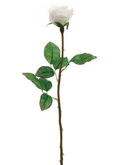 "21"" Single Cream Silk Rose Bud | Silk Roses | Silk Flowers – Afloral.com"