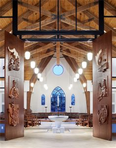 Baptismal font at Holy Trinity Episcopal Church in Fayetteville, North Carolina