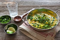 Indian dal with collard greens Gluten-free vegan. Made vegan with Earth Balance butter.