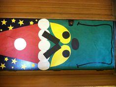 Grinch Door Grinch Bulletin Board, School Bulletin Boards, Christmas Classroom Door, Classroom Fun, Language Activities, Preschool Activities, School Decorations, Christmas Decorations, Grinch Christmas Party