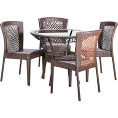 Moxley 7 Piece Dining Set with Cushions 3 Piece Bistro Set, 7 Piece Dining Set, Dining Room Server, Dining Table, Outdoor Tables, Outdoor Decor, Stackable Chairs, Square Tables, Patio