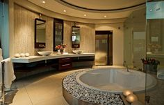 Marvelous Bathroom Vanity Lighting Ideas and Glass Tile With Recessed Bathtub For Bathroom Vanity. -ConstructionMarkets