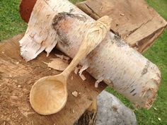 Wood spirit wooden spoon