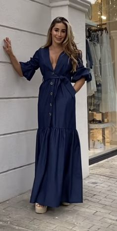 Chambray, Puppet, Wrap Dress, Lily, My Style, Outfits, Collection, Dresses, Fashion