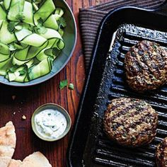 Quick and Easy Mediterranean Recipes: Beef Kefta Patties with Cucumber Salad Recipes | CookingLight.com
