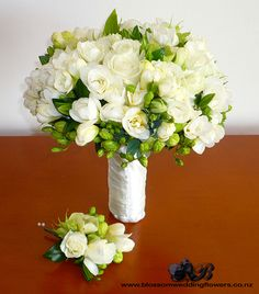 freesia-rose-hellebore-bouquet by Blossom Wedding Flowers, via Flickr