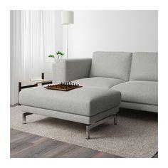 NOCKEBY Voetenbank - Tallmyra wit/zwart, verchroomd - IKEA