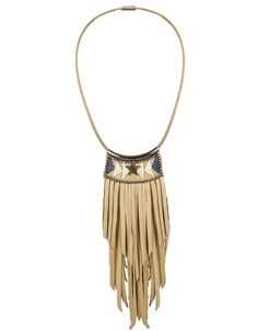 Fiona Paxton Lucite Leather Fringe Necklace in Oxidized – SWANK