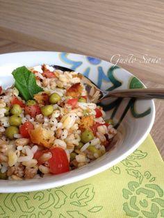 Ricetta: Cereali con Piselli , Limone e Pane Croccante