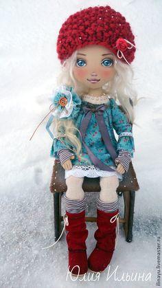 Купить Вика - тёмно-бирюзовый, авторская кукла, коллекционная кукла, кукла, кукла интерьерная