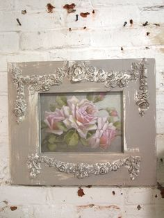 Christie Repasy rose print with handmade Painted Cottage frame! All of Christie Repasys original canvas prints are hand-stretched onto a wooden frame. Each canvas giclee is treated with a clear coating to create the look and feel of an original painting! Her use of soft colors, lush roses and adorable animals make her paintings perfect for any Shabby Cottage style home! Christie signs and dates each print for authenticity. The prints can be framed or hung on the wall as is! A gorgeous ...