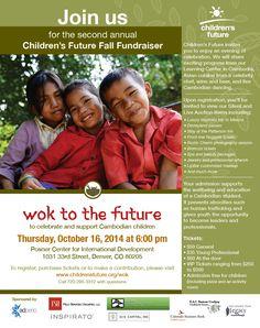 Email invitation for local non-profit organization.