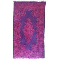 "Vintage Purple Over-Dyed Wool Rug - 3' x 5'4"" on Chairish.com"