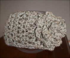 Boho Flower Headband / Ear warmer by kariodesigns on Etsy, $18.00 Available in a large variety of colours. www.kariodesigns.com