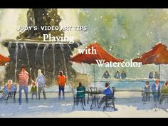 """Watercolor step-by-step painting, """"Walk in West Baden"""" Part 1 by Judy Mudd - YouTube"""