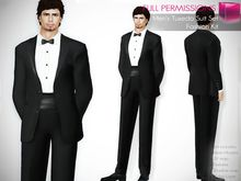 MI Full Perm Rigged Mesh Men's Tuxedo Suit Set with formal Shoes