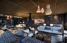 The safari company African Bush Camps worked closely with the South Africa–based design firm Fox Browne Creative to design Zambia's exceptional Thorntree River Lodge. River Lodge, African Home Decor, Outdoor Bathrooms, Victoria Falls, Wooden Decks, Outdoor Furniture Sets, Outdoor Decor, Design Firms, Lodges