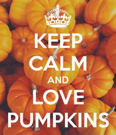 Poster: KEEP CALM AND LOVE PUMPKINS