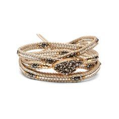 Nakamol Metallic Druzy Wrap Bracelet