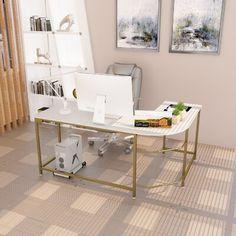 Cozy Home Office, Home Office Setup, Home Office Space, Home Office Design, Office Inspo, Office Ideas, White Desk Office, Future Office, White Desks