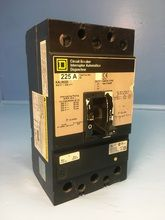 Square D KAL36225 225A Circuit Breaker 600V Type KAL S2 3 Pole KAL-36225 225 Amp (EM1544-1)