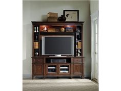 Shop for Hooker Furniture Riley Entertainment Console Hutch, 5068-55586, and other Home Entertainment Cabinets at B.F. Myers Furniture in Goodlettsville, Tennessee, 37072. The Riley collection provides organization with flair.