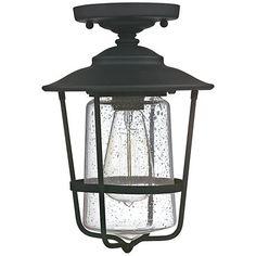 "Franklin Park 8 1/2"" Wide Galvanized Outdoor Ceiling Light - #4F505 | www.lampsplus.com"