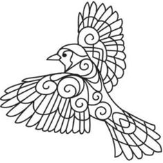 Bird Embroidery Designs Unique Transfer Paper 32 Ideas For 2019 Paper Embroidery, Hand Embroidery Patterns, Embroidery Stitches, Embroidery Designs, Colouring Pages, Coloring Books, Adult Coloring, Blue Jay, Quilling Patterns