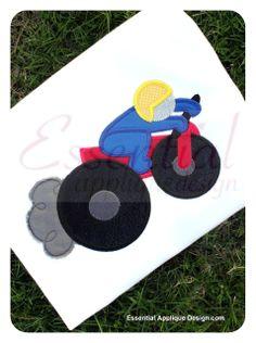Essential Applique Design - Motorcycle Rider, $3.99 (http://www.essentialappliquedesign.com/motorcycle-rider/)