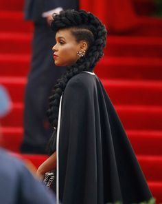 Janelle Monáes Met Gala Braid And More Celebrity Beauty Looks We Loved This Week
