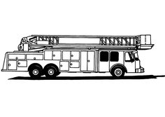 Fire Truck Coloring Page For Kids Pages To Print