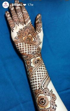 Henna mehndi Floral Henna Designs, Mehndi Designs For Girls, Modern Mehndi Designs, Mehndi Design Pictures, Wedding Mehndi Designs, Mehndi Designs For Fingers, Beautiful Henna Designs, Mehndi Images, Henna Tattoo Designs