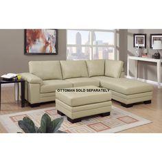 Bobkana Genuine Leather Sectional Sofa - Home - Furniture - Living Room Furniture - Sofas & Loveseats
