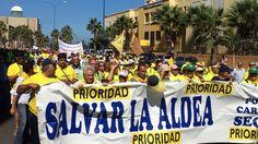 Marcha - Manifestación por la carretera de La Aldea.