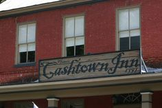 The sign for the Cashtown Inn. One of the best places for civil war ghost stories that are actually believable.