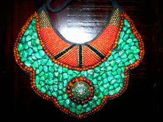 Tibetan Beaded Bib Choker Necklace. $275.00, via Etsy.