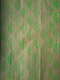 Handmade stamp leaf pattern (mia mmaria)