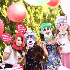Little red riding hood party organization photobooth
