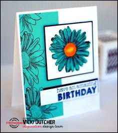Card by Vicki using Bloom Sketches and Party Time