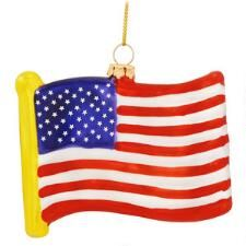 U.S.A. Flag Glass Ornament