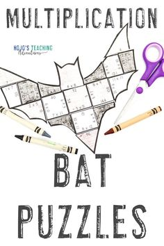 Make learning about bats fun with these MULTIPLICATION bat activities for kids. Click through to make these a part of your math centers, stations, review, enrichment, or early & fast finisher games. Great for your 3rd, 4th, or 5th grade upper elementary classroom or homeschool kids. There's also a FREE download at the blog post. (third, fourth, fifth graders, Year 3, Year 4, Year 5) #3rdGradeMath #4thGradeMath #5thGradeMath 5th Grade Classroom, 5th Grade Math, Science Classroom, Classroom Decor, Bat Activities For Kids, Math Activities, Practice Math Problems, Halloween Math, Science Lessons