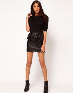 $18 Enlarge ASOS Sequin Skirt with Peplum