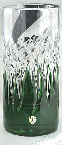 VINTAGE GLASS IN GREEN. c.1960s PEILL & PUTZLER  EMERALD OVERLAY CRYSTAL VASE. To visit my website click here: http://www.richardhoppe.co.uk or for help or information email us here: info@richardhoppe.co.uk