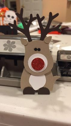 Have you seen this cutie yet? Rudolph is so cute  scroll down to see my other version.  I made him a few weeks ago but forgot to share him!...