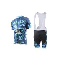 Xinzechen Outdoor Sports Cycling Short Sleeve Jersey and 3D Cushion Bib  Shorts Black Size S 18ea68424