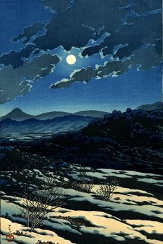 Hasui Kawase (1883-1957), A Mountain Pass: Karachi (1927), from the Eight Fine Views of Japan series.