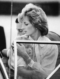 April 1983: Diana and William on the Tarmac at Tullarine.  I say, she is a beautiful mom....